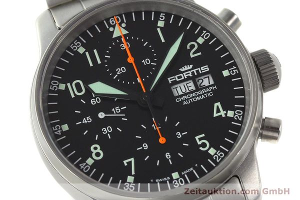 Used luxury watch Fortis Cosmonauts Chronograph chronograph steel automatic Kal. ETA 7750 Ref. 597.10.141  | 142633 02