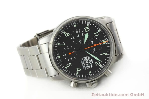 Used luxury watch Fortis Cosmonauts Chronograph chronograph steel automatic Kal. ETA 7750 Ref. 597.10.141  | 142633 03