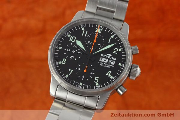 Used luxury watch Fortis Cosmonauts Chronograph chronograph steel automatic Kal. ETA 7750 Ref. 597.10.141  | 142633 04