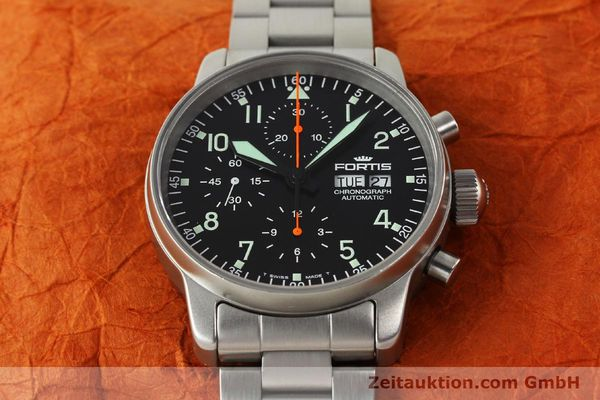 Used luxury watch Fortis Cosmonauts Chronograph chronograph steel automatic Kal. ETA 7750 Ref. 597.10.141  | 142633 16