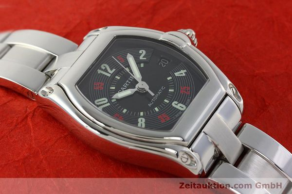 Used luxury watch Cartier Roadster steel automatic Kal. ETA 2829-A2 3110 Ref. 2510  | 142639 13