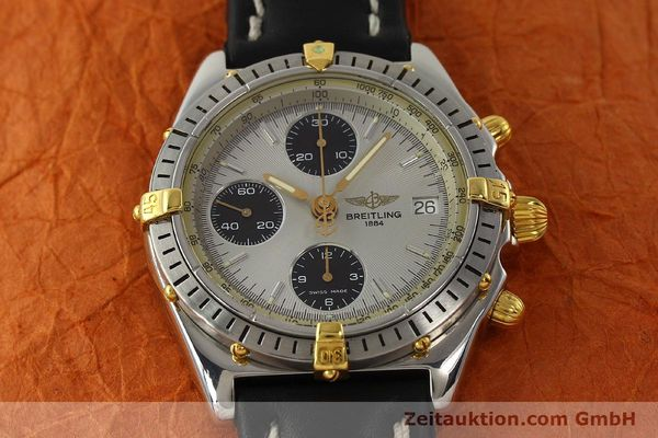 Used luxury watch Breitling Chronomat chronograph steel / gold automatic Kal. B13 ETA 7750 Ref. B13048  | 142642 15