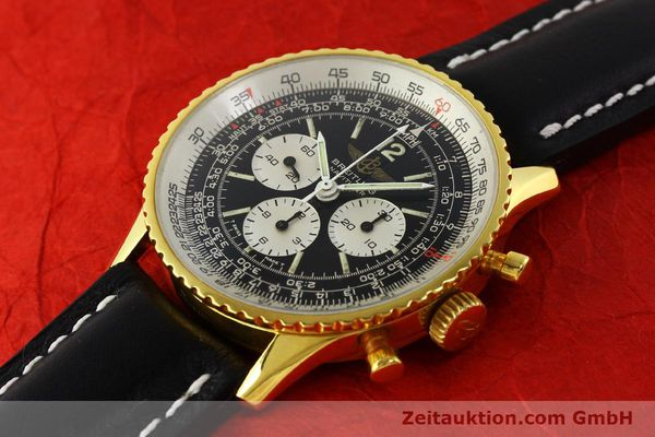 Used luxury watch Breitling Navitimer chronograph gold-plated manual winding Kal. LWO 1873 Ref. 81600  | 142643 01