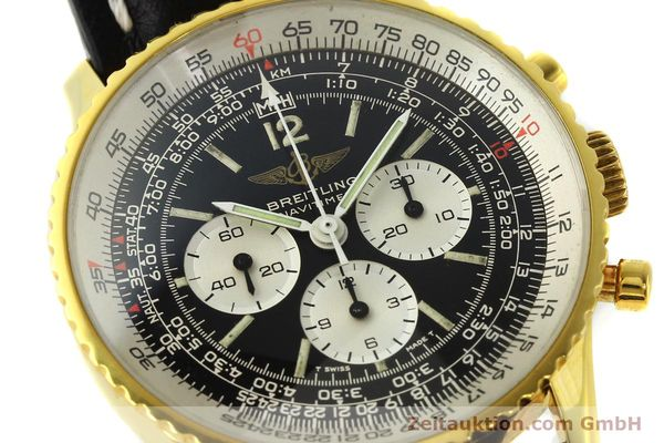 Used luxury watch Breitling Navitimer chronograph gold-plated manual winding Kal. LWO 1873 Ref. 81600  | 142643 02