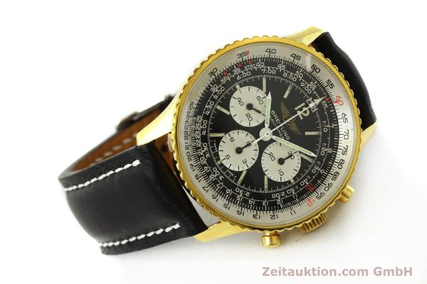 Used luxury watch Breitling Navitimer chronograph gold-plated manual winding Kal. LWO 1873 Ref. 81600  | 142643 03