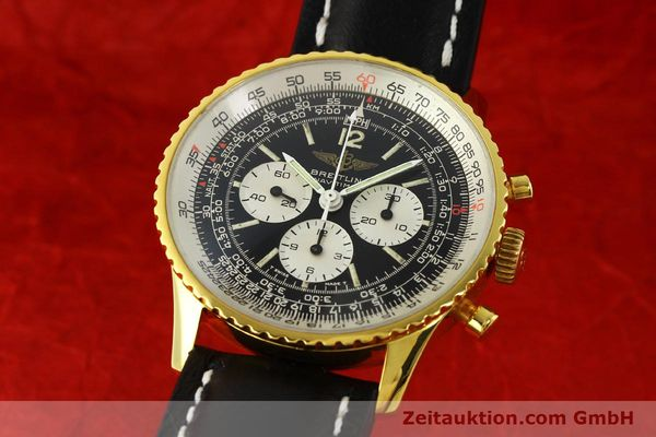 Used luxury watch Breitling Navitimer chronograph gold-plated manual winding Kal. LWO 1873 Ref. 81600  | 142643 04