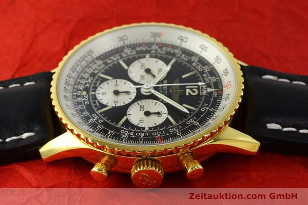 Used luxury watch Breitling Navitimer chronograph gold-plated manual winding Kal. LWO 1873 Ref. 81600  | 142643 05