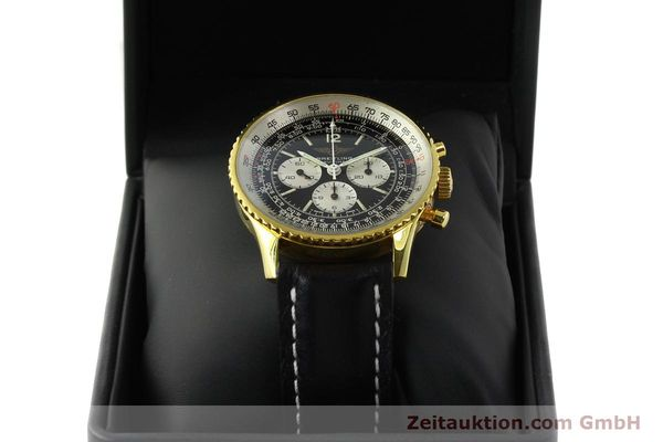 Used luxury watch Breitling Navitimer chronograph gold-plated manual winding Kal. LWO 1873 Ref. 81600  | 142643 07