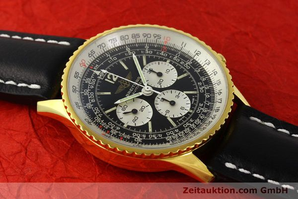 Used luxury watch Breitling Navitimer chronograph gold-plated manual winding Kal. LWO 1873 Ref. 81600  | 142643 12