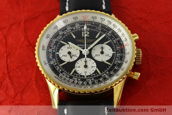 Used luxury watch Breitling Navitimer chronograph gold-plated manual winding Kal. LWO 1873 Ref. 81600  | 142643 13