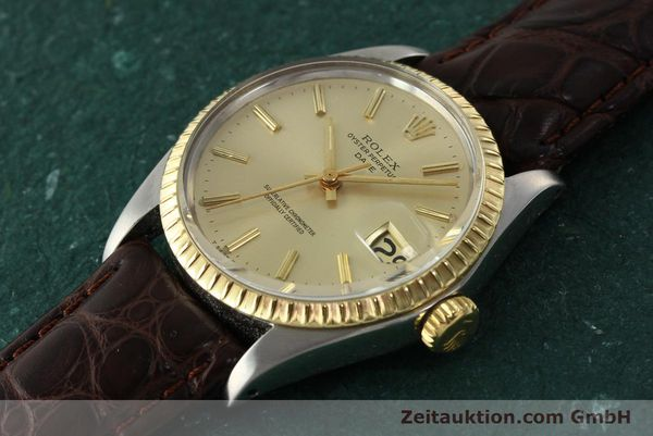 Used luxury watch Rolex Date steel / gold automatic Kal. 1570 Ref. 1505  | 142645 01
