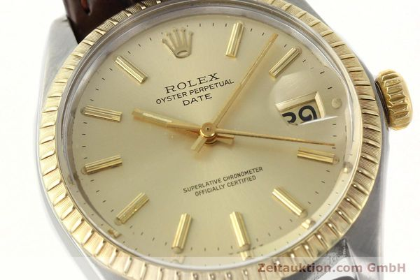 Used luxury watch Rolex Date steel / gold automatic Kal. 1570 Ref. 1505  | 142645 02