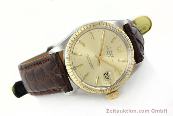 Used luxury watch Rolex Date steel / gold automatic Kal. 1570 Ref. 1505  | 142645 03