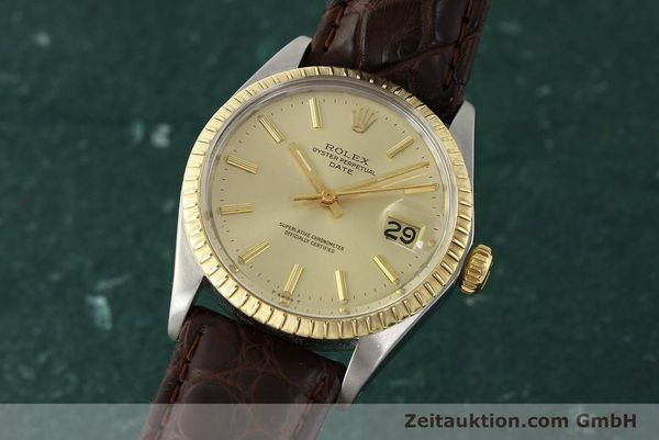 Used luxury watch Rolex Date steel / gold automatic Kal. 1570 Ref. 1505  | 142645 04