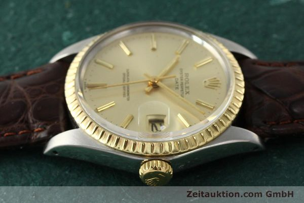 Used luxury watch Rolex Date steel / gold automatic Kal. 1570 Ref. 1505  | 142645 05