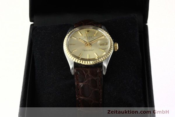Used luxury watch Rolex Date steel / gold automatic Kal. 1570 Ref. 1505  | 142645 07