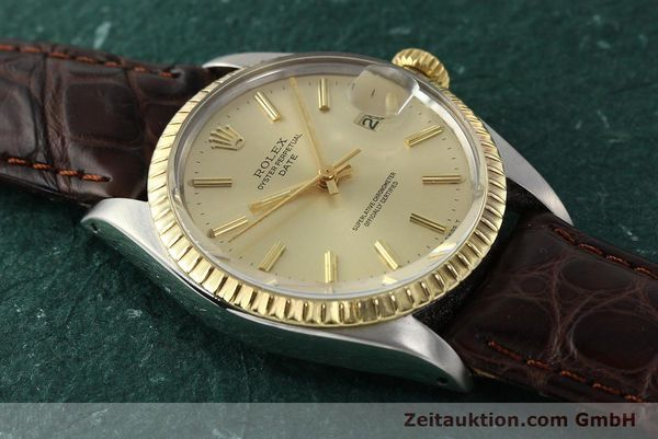Used luxury watch Rolex Date steel / gold automatic Kal. 1570 Ref. 1505  | 142645 13
