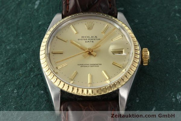 Used luxury watch Rolex Date steel / gold automatic Kal. 1570 Ref. 1505  | 142645 14