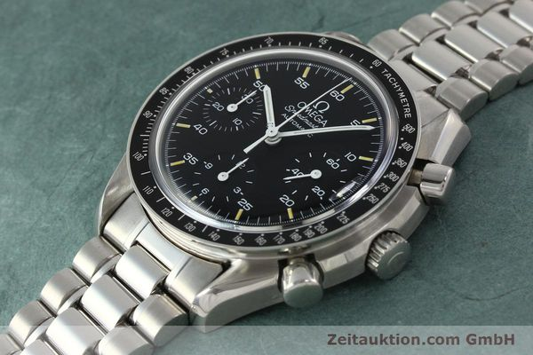 Used luxury watch Omega Speedmaster chronograph steel automatic Kal. 1140 ETA 2890-2  | 142660 01