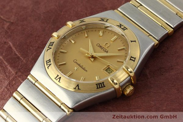 montre de luxe d occasion Omega Constellation acier / or  quartz Kal. 1424 ETA 25646  | 142664 01