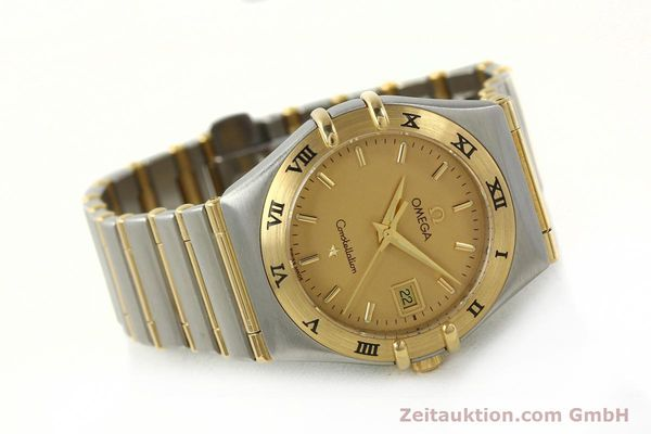 montre de luxe d occasion Omega Constellation acier / or  quartz Kal. 1424 ETA 25646  | 142664 03