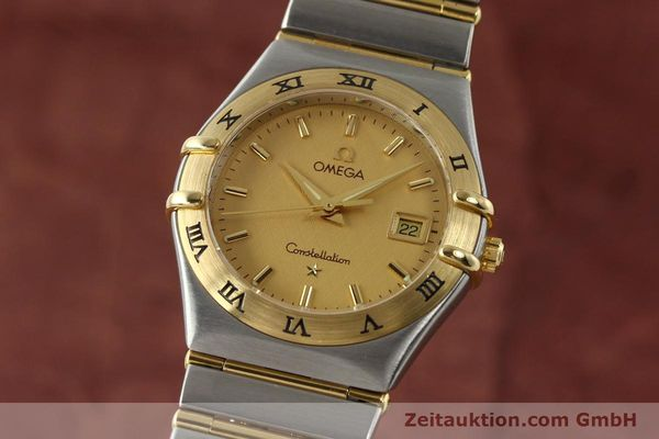 montre de luxe d occasion Omega Constellation acier / or  quartz Kal. 1424 ETA 25646  | 142664 04