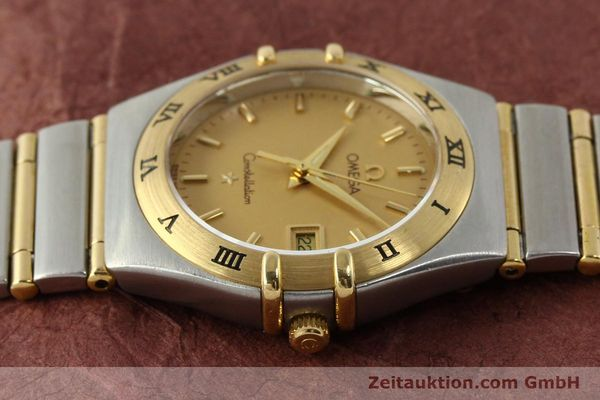 montre de luxe d occasion Omega Constellation acier / or  quartz Kal. 1424 ETA 25646  | 142664 05