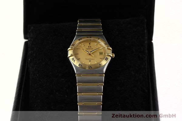 montre de luxe d occasion Omega Constellation acier / or  quartz Kal. 1424 ETA 25646  | 142664 07