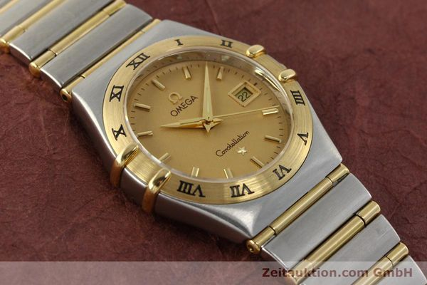montre de luxe d occasion Omega Constellation acier / or  quartz Kal. 1424 ETA 25646  | 142664 14