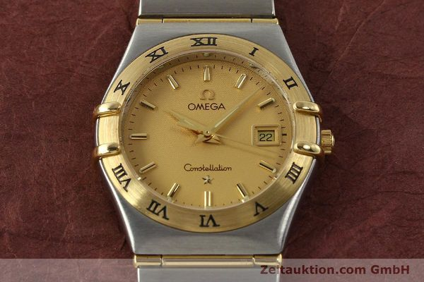 montre de luxe d occasion Omega Constellation acier / or  quartz Kal. 1424 ETA 25646  | 142664 15