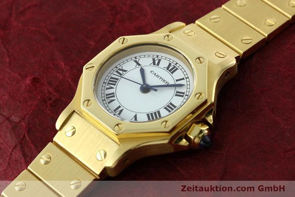 montre de luxe d occasion Cartier Santos or 18 ct automatique Kal. ETA 2670  | 142666 01