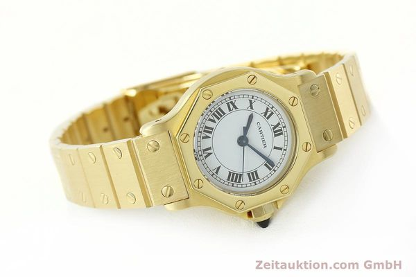 montre de luxe d occasion Cartier Santos or 18 ct automatique Kal. ETA 2670  | 142666 03