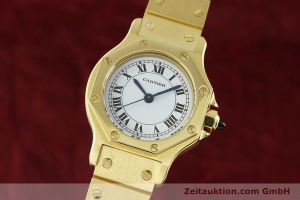montre de luxe d occasion Cartier Santos or 18 ct automatique Kal. ETA 2670  | 142666 04