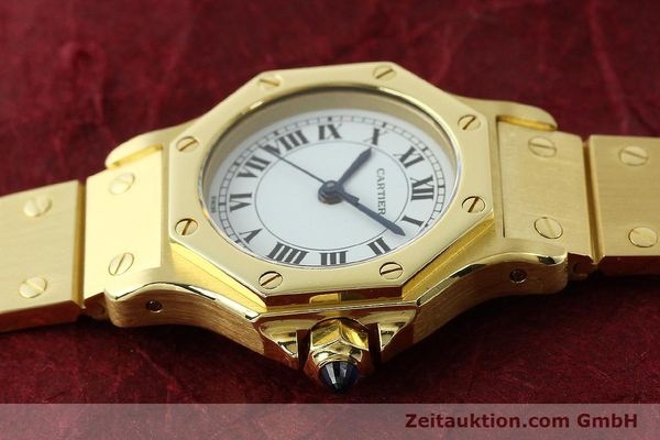 montre de luxe d occasion Cartier Santos or 18 ct automatique Kal. ETA 2670  | 142666 05