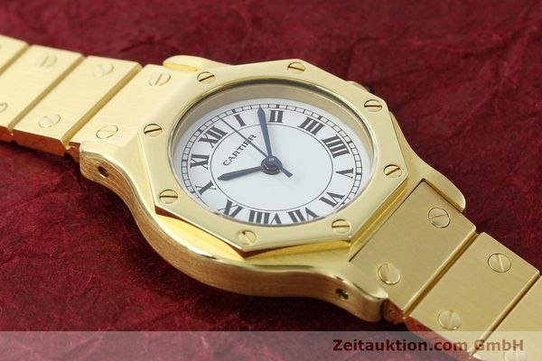 montre de luxe d occasion Cartier Santos or 18 ct automatique Kal. ETA 2670  | 142666 16