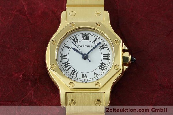 montre de luxe d occasion Cartier Santos or 18 ct automatique Kal. ETA 2670  | 142666 17