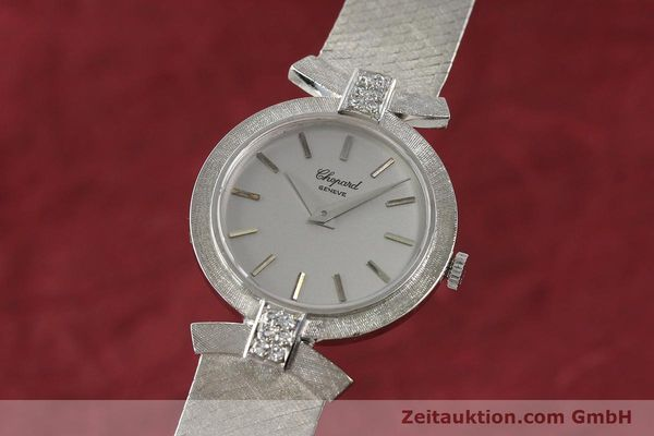 Used luxury watch Chopard * 18 ct white gold manual winding Kal. ETA 2512  | 142668 04