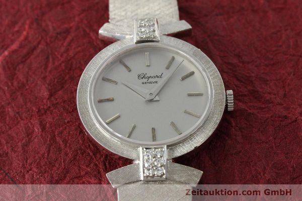 Used luxury watch Chopard * 18 ct white gold manual winding Kal. ETA 2512  | 142668 16