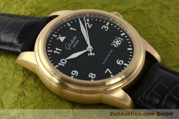 Used luxury watch Glashütte Navigator 18 ct red gold automatic Kal. 39-41  | 142670 15