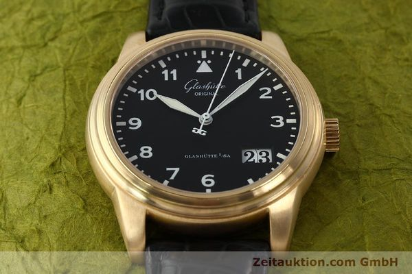 Used luxury watch Glashütte Navigator 18 ct red gold automatic Kal. 39-41  | 142670 16
