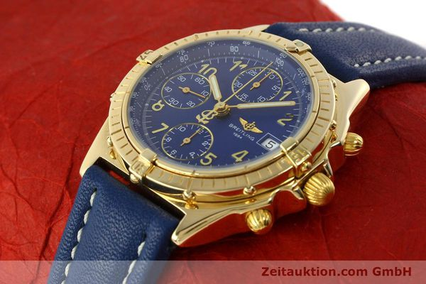 Used luxury watch Breitling Chronomat chronograph 18 ct gold automatic Kal. ETA 7750  | 142678 01