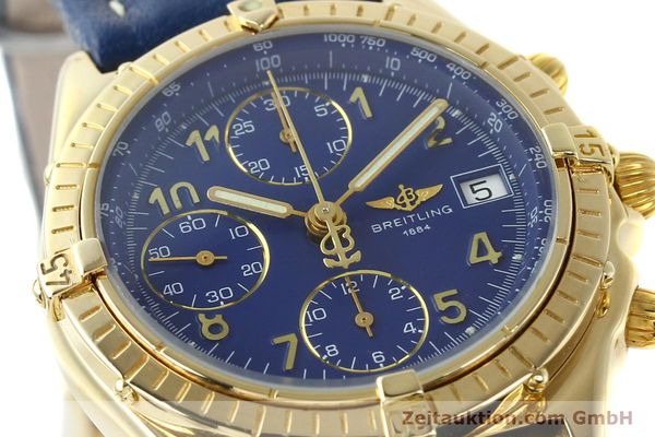 Used luxury watch Breitling Chronomat chronograph 18 ct gold automatic Kal. ETA 7750  | 142678 02
