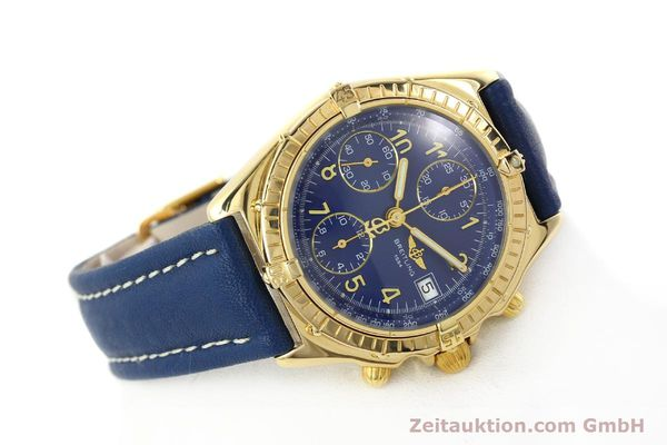 Used luxury watch Breitling Chronomat chronograph 18 ct gold automatic Kal. ETA 7750  | 142678 03