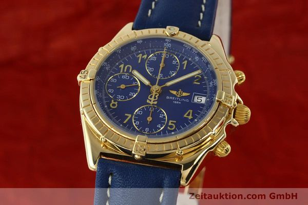 Used luxury watch Breitling Chronomat chronograph 18 ct gold automatic Kal. ETA 7750  | 142678 04