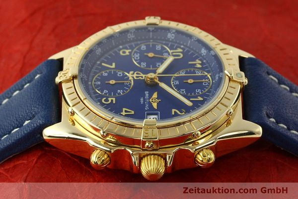 Used luxury watch Breitling Chronomat chronograph 18 ct gold automatic Kal. ETA 7750  | 142678 05