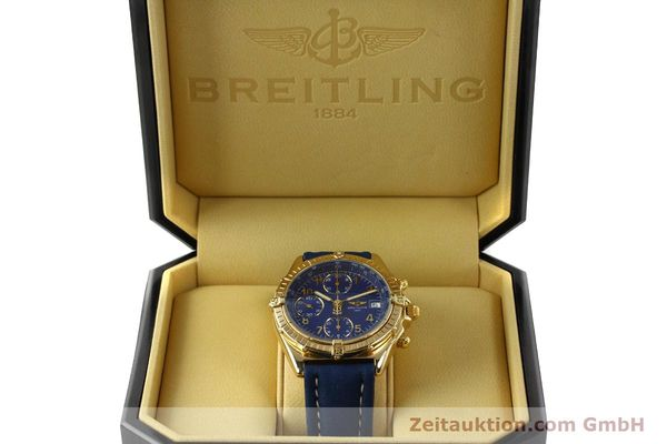 Used luxury watch Breitling Chronomat chronograph 18 ct gold automatic Kal. ETA 7750  | 142678 07