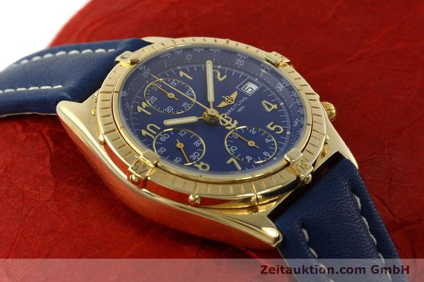 Used luxury watch Breitling Chronomat chronograph 18 ct gold automatic Kal. ETA 7750  | 142678 16