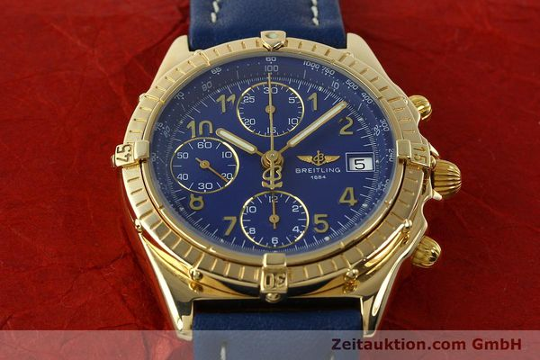 Used luxury watch Breitling Chronomat chronograph 18 ct gold automatic Kal. ETA 7750  | 142678 17
