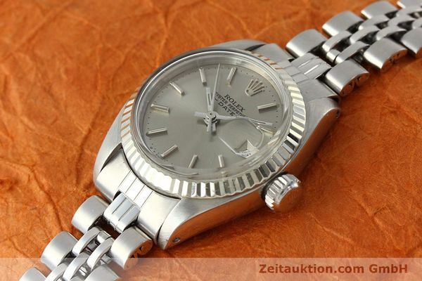 Used luxury watch Rolex Lady Date steel / white gold automatic Kal. 2030 Ref. 6917  | 142679 01