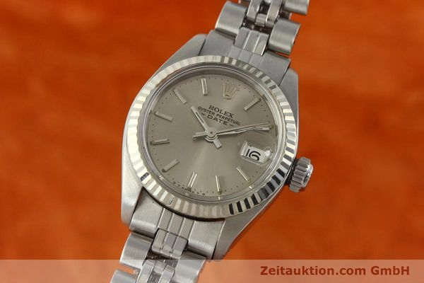 Used luxury watch Rolex Lady Date steel / white gold automatic Kal. 2030 Ref. 6917  | 142679 04